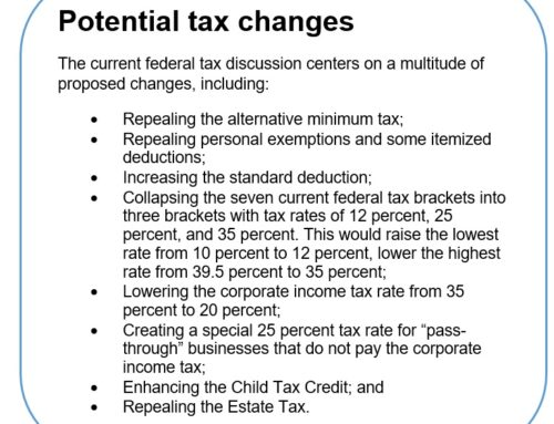 Policy brief – Federal tax changes and what they mean for Nebraska
